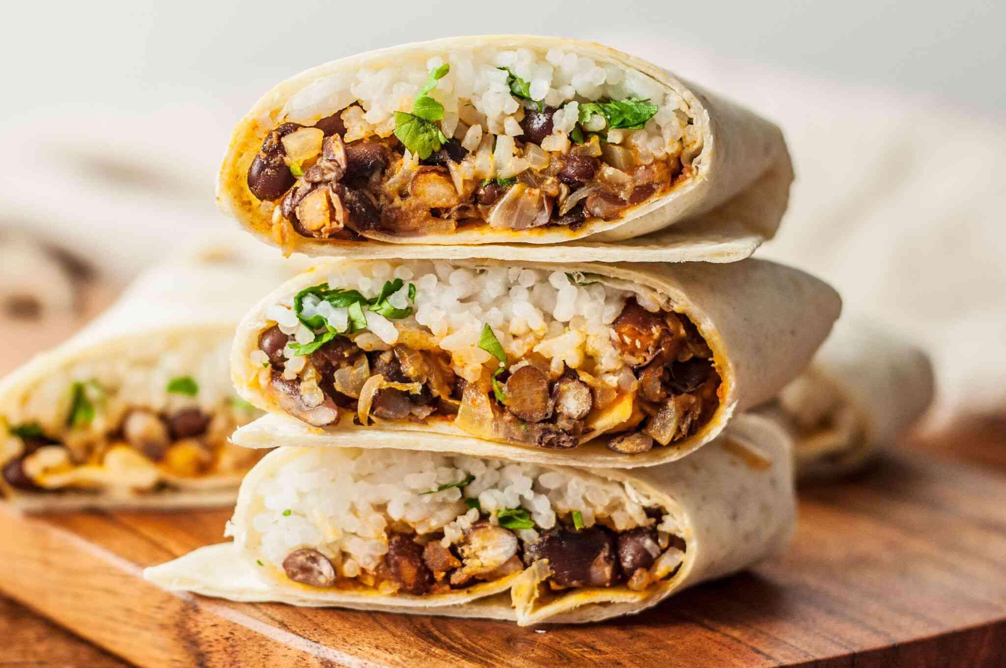 rice & bean burrito